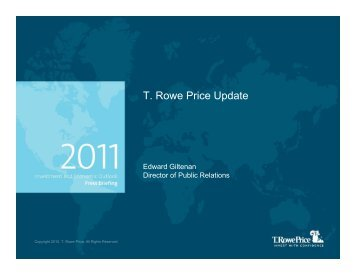T Rowe Price Update