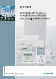 Intrusion Intrunet SI340/SI420 – intelligente ... - pwd Wachdienst
