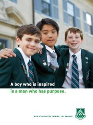 A boy who is inspired is a man who has purpose