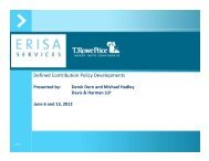 Defined Contribution Policy Developments