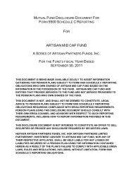 ARTISAN MID CAP FUND - T. Rowe Price