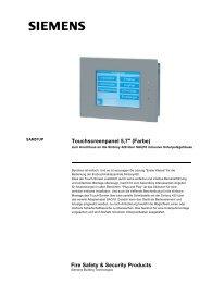Touchscreenpanel 5,7'' (Farbe) Fire Safety ... - gma-elektronik
