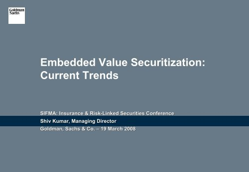 Embedded Value Securitization Current Trends