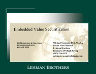 Embedded Value Securitization