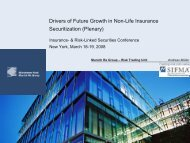 Drivers of Future Growth in Non-Life Insurance Securitization (Plenary)