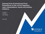 Clearing Firms & Introducing Firms: Perspectives on ... - Events - sifma