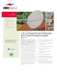 1.8 m C-band Circular Polarized RxTx Class III Antenna System thermosetmolded