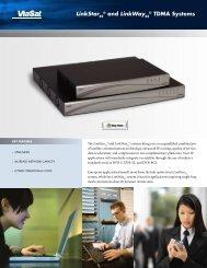 LinkStar and LinkWay TDMA Systems