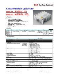 Ku-band 4W Block Upconverter NJT5017 / 17F NJT5017L / 17FL