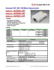 Ku-band 1W / 2W / 3W Block Upconverter NJT5035 / 35F NJT5036 / 36F NJT5037 / 37F