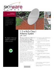 Skyware Global Antenna 1.2m Tx/Rx Ku Band Type 122 Class I