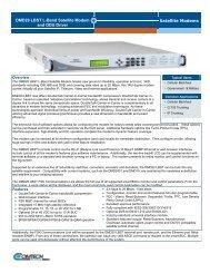 Radyne DMD20 LBST L-Band Satellite Modem Datasheet