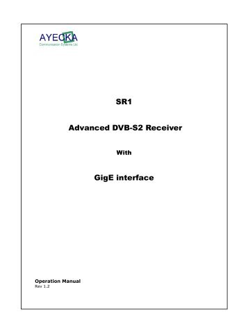 SR1 Advanced DVB-S2 Receiver GigE interface