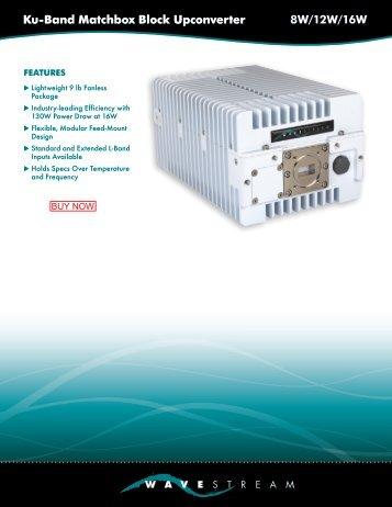 Ku-Band Matchbox Block Upconverter 8W/12W/16W