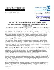 Press Release about Grand Opening of The New York Times Building