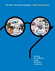 The New York Times Company 2002 Annual Report