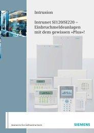 Intrunet™ SI120 und SI220 - pwd Wachdienst