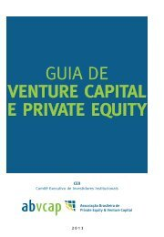 GUIA DE VENTURE CAPITAL E PRIVATE EQUITY