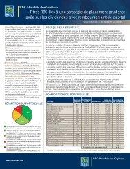 titres RbC liés à une stratégie de placement prudente axée sur les ...