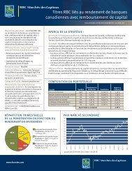 titres RbC liés au rendement de banques canadiennes avec ...