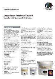 Capadecor ArteTwin-Technik Neuartige Effekt-Spachteltechnik für ...