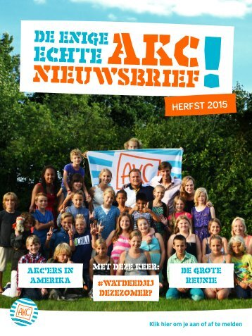 AKC Nieuwsbrief Herfst 2015