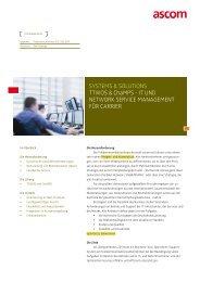 SYSTEMS & SOLUTIONS TTWOS & ChaMPS - IT ... - Ascom Schweiz