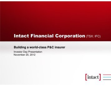 Intact Financial Corporation