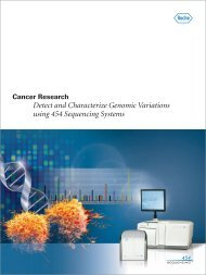 Detect and Characterize Genomic Variations using 454 Sequencing Systems