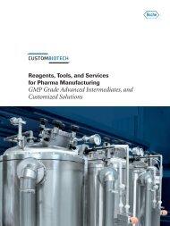 GMP Grade Advanced Intermediates and Customized Solutions