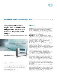 Comparison of Automated MagNA Pure 96 and Manual PAXgene ...