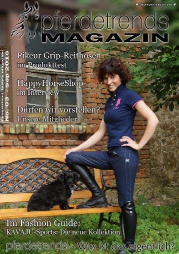 pferdetrendsMagazin No. 03 - Aug/Sep 2016