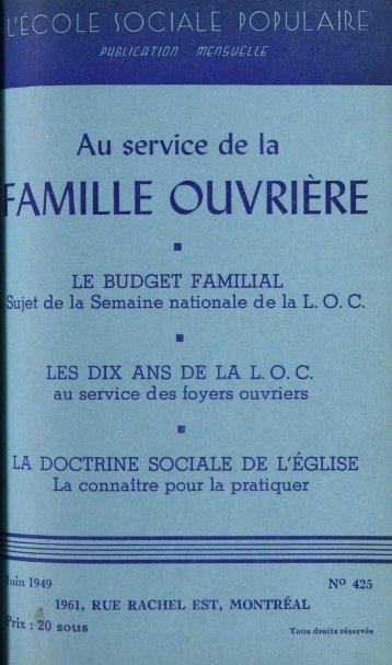 FAMILLE OUVRIÈRE