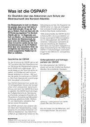 Factsheet: Was ist die OSPAR - Greenpeace