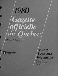 / Gazette officielle du Québec
