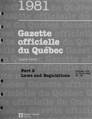 Gazette officielle du Québec - Internal System Error
