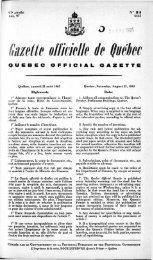 Gazette officie/le ie Québec