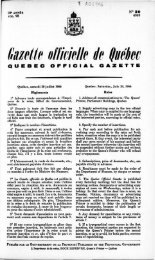 kzetie officielle de Québec