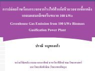 Greenhouse Gas Emission from 100 kWe Biomass Gasification Power Plant