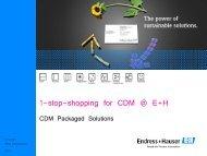 1-stop-shopping for CDM @ E+H