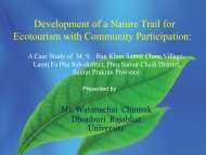 Development of a Nature Trail for Ecotourism with Community Participation