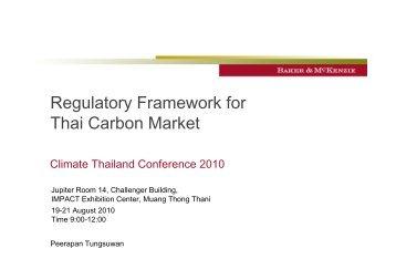 Regulatory Framework for Thai Carbon Market
