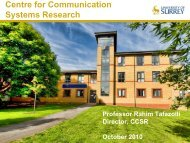 Centre for Communication Systems Research