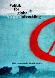 Politik för global v a p e n utveckling