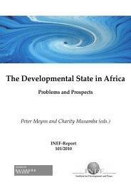 The Developmental State in Africa - Institut für Entwicklung und ...