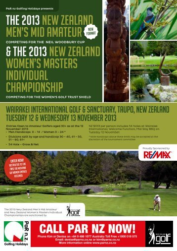the Entry Form for the NZ Mid Amateur and NZ ... - New Zealand Golf