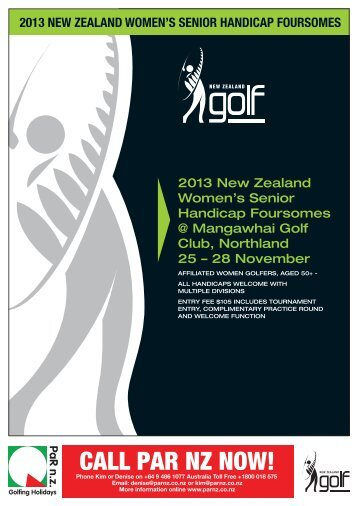 the Entry Form for the NZ Women's Foursomes - New Zealand Golf