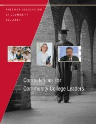Competencies for Community College Leaders