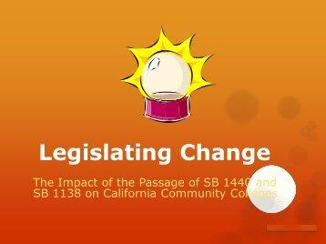 Legislating Change