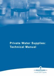 Private Water Supplies Technical Manual